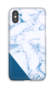 Blu e marmo cover IPhone X