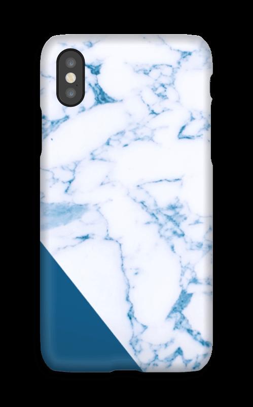 Blått og marmor deksel IPhone X