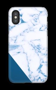 Blått og marmor deksel IPhone X tough