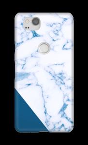 Donkerblauw marmer hoesje Pixel 2