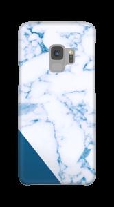 Blått og marmor deksel Galaxy S9
