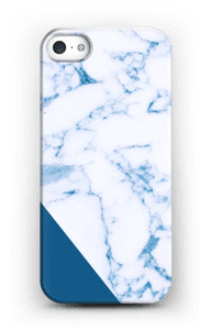 Donkerblauw marmer hoesje IPhone SE