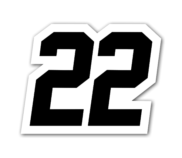 Racing 22  sticker