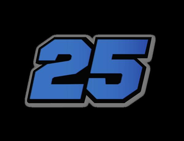 Racer - 25 blue  sticker