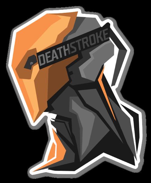 Deathstroke pegatina