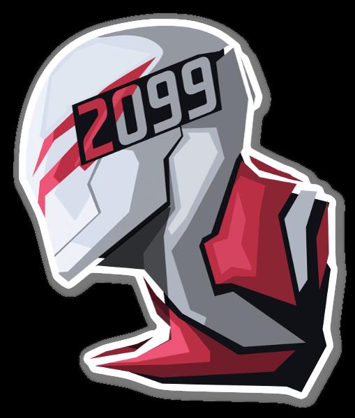 Nuevo 2099 pegatina