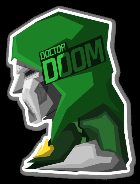 Doomed! sticker