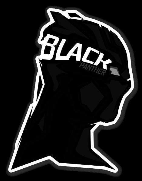 Pantera Negra pegatina