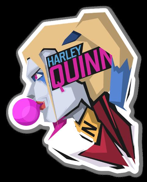 Harley Quinn pegatina