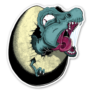 Hatching Dinosaur sticker