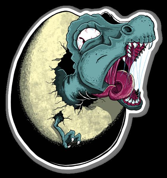 Dinossauro em Incubação sticker