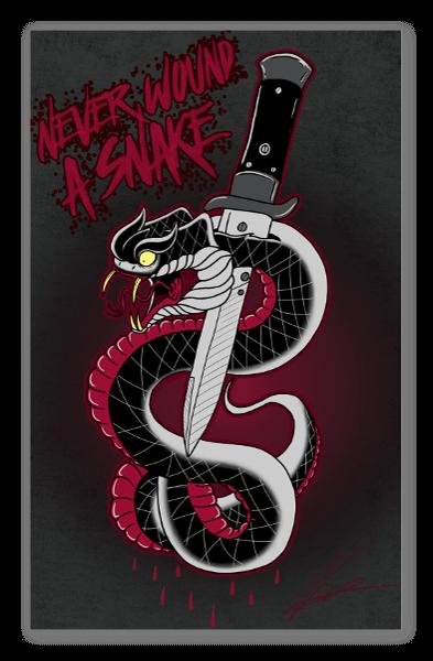 Never Wound a Snake pegatina