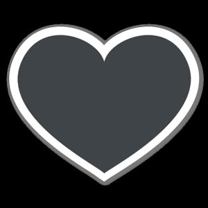 Coeur noir sticker