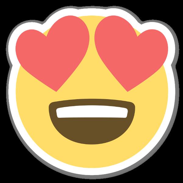 Autocolante Smiley Apaixonado  sticker