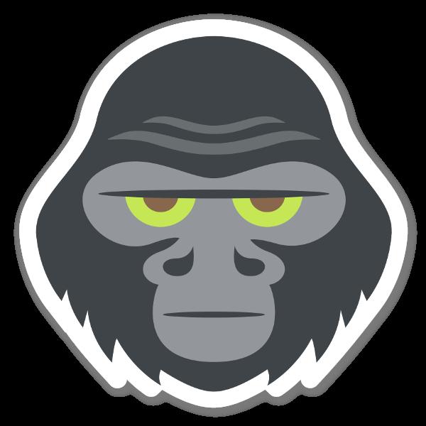 Tête de gorille sticker