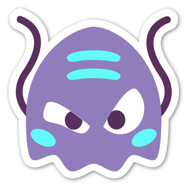 Alien monster sticker