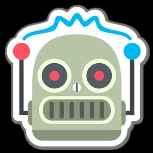 Adesivo Faccia Robot sticker