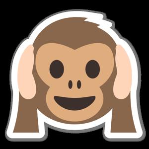 Scimmia non sentire il male sticker