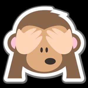 Scimmia non vedere il male sticker