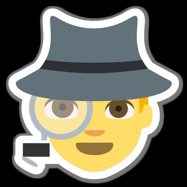 Autocolante Espião sticker