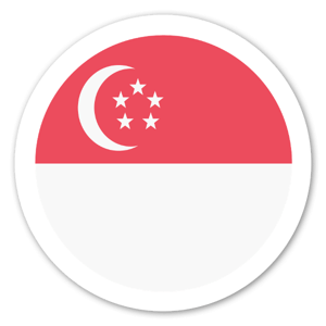 Singapores Flagga sticker
