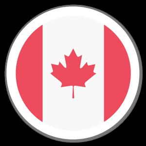 Kanadensisk Flagga sticker