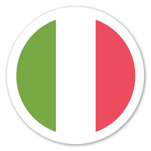 Italiensk Flagga sticker