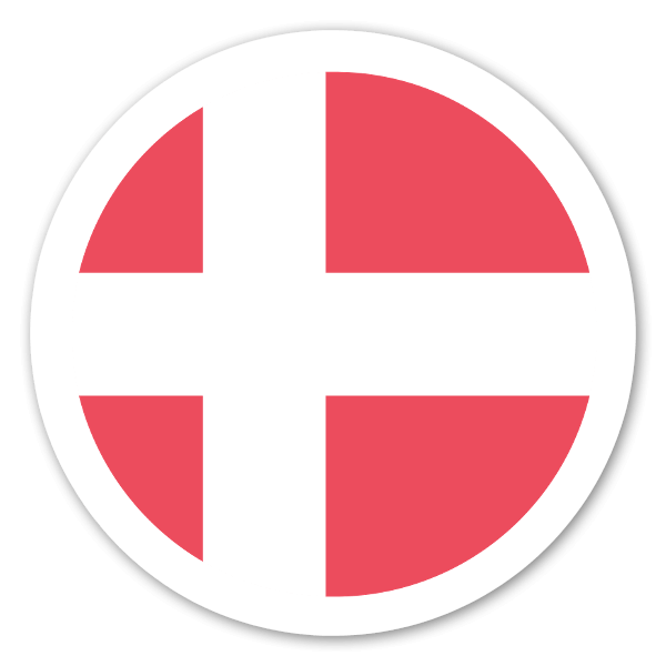 Denmark flag sticker