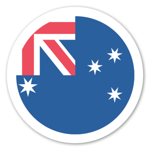 Australiensisk Flagga sticker