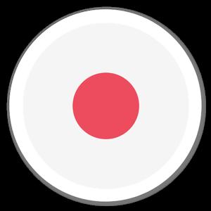 Japansk flagga sticker