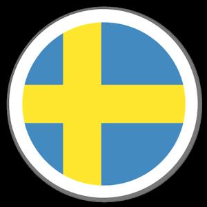 Sverige flagga klistermärke sticker