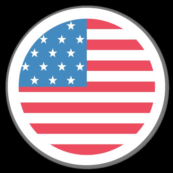 America Flag Sticker
