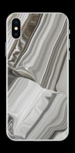 Geschmolzenes Gold und Silber Skin IPhone X