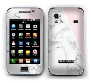 White Marble and pink pastell Skin Galaxy Ace