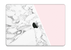 "White Marble and pink pastell Skin MacBook Pro 13"" 2016-"