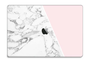 "White Marble and pink pastell Skin MacBook Pro 15"" 2016-"