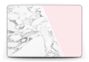 "White Marble and pink pastell Skin MacBook Pro Retina 13"" 2015"