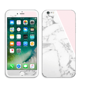 White Marble and pink pastell Skin IPhone 6 Plus