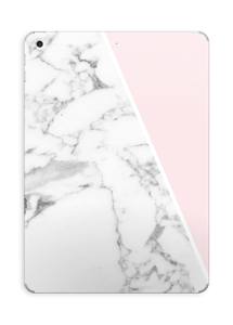 White Marble and pink pastell Skin IPad 2017