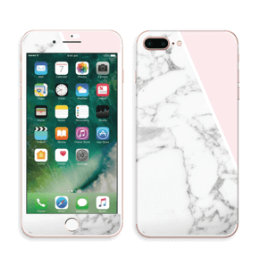 Marmor og rosa Skin IPhone 7 Plus