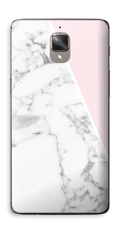 Marmor og rosa Skin OnePlus 3