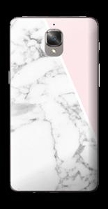 Marmor og rosa Skin OnePlus 3T