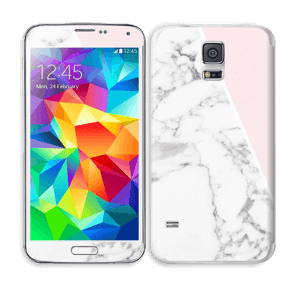 White Marble and pink pastell Skin Galaxy S5
