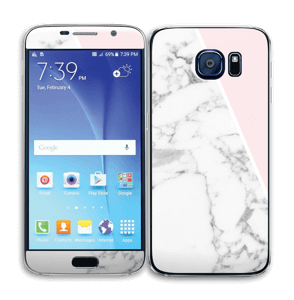 Marble and Pink Skin Galaxy S6