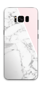 White Marble and pink pastell Skin Galaxy S8