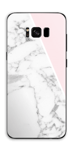 White Marble and pink pastell Skin Galaxy S8 Plus