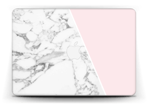 White Marble and pink pastell Skin MacBook Air 13""