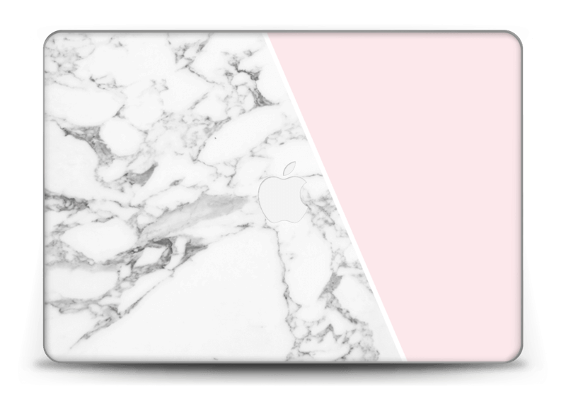 "White Marble and pink pastell Skin MacBook Pro Retina 15"" 2015"