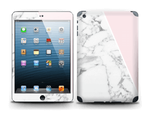 White Marble and pink pastell Skin IPad mini 2
