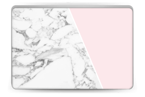 Marble and Pink Skin Laptop 15.6